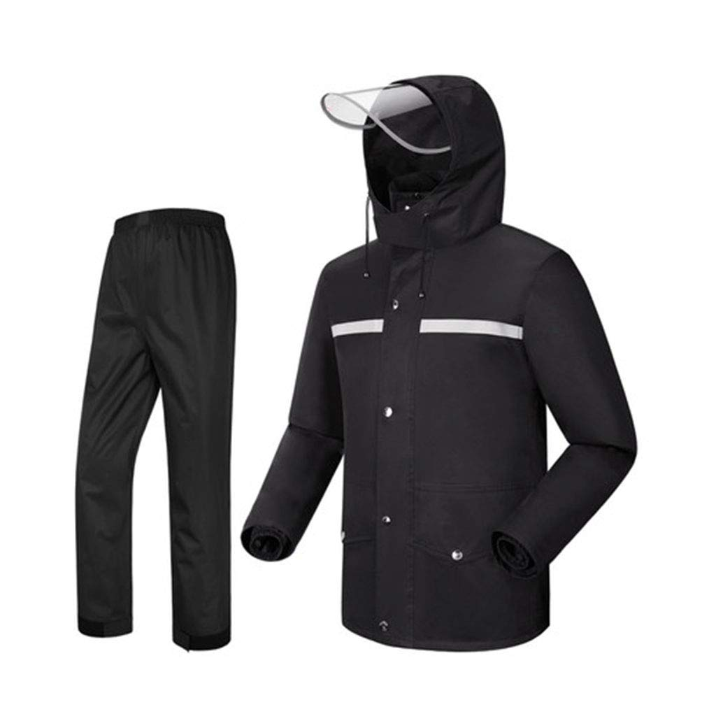 Noir XL WSWJJXB Pantalon de Pluie imperméable Costume imperméable de Mode Split imperméable Poncho, adapté pour Le Camping Voyage Escalade en Montagne
