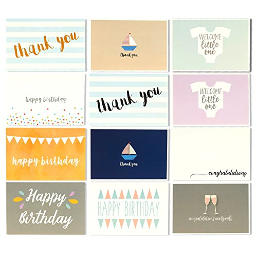 48-All-Occasion-Greeting-Cards-Assorted-Happy-Birthday-Thank-You-Wedding-Blank-Designs-Envelopes-Included-4-x-6-Inches