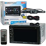 Soundstream VR-624B Car Double DIN 2DIN 6.2 DVD MP3 CD Stereo Bluetooth & Remote + DCO Waterproof Backup Camera with Nightvision