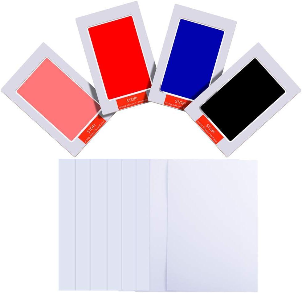 3pcs, Moyen, Noir//Bleu//Rouge PChero Kit dempreinte de Main B/éb/é Non-Toxique Tampon Encreur pour Registre de Douche de B/éb/é