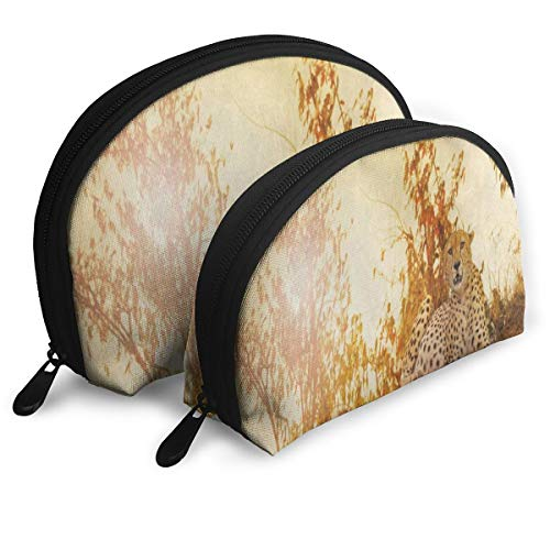 Toiletry Organizer Travel Makeup Clutch Bag Sunset Forest Tree Leopard Portable Bags Storage Bags ()