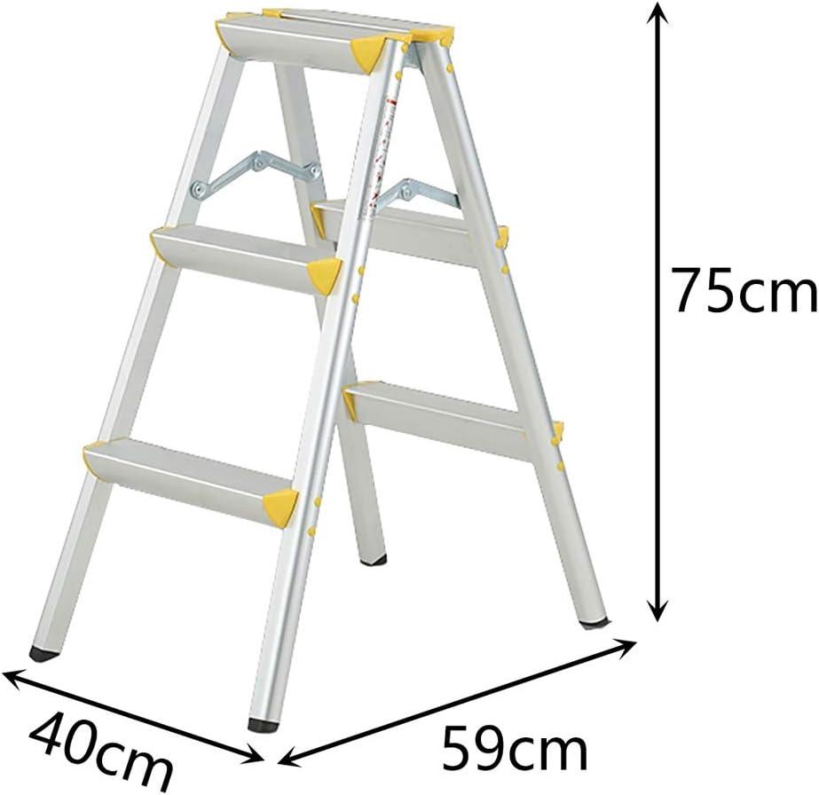 LXF Escaleras plegables Escalera ancha de aluminio para pedales, taburete antideslizante portátil liviano, escaleras plegables de seguridad, para interiores (Tamaño : 4 Tier): Amazon.es: Bricolaje y herramientas
