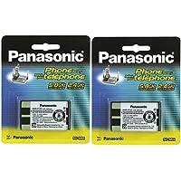 (2 PACK) Panasonic Cordless Telephone Battery (HHR-P104A)