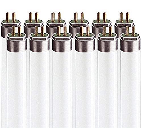 T5 Fluorescent Lumens - Luxrite LR20826 (12-Pack) F24T5/830/HO 24-Watt 2 FT T5 Hight Output Fluorescent Tube Light Bulb, Soft White 3000K, 1635 Lumens, G5 Mini Bi-Pin Base
