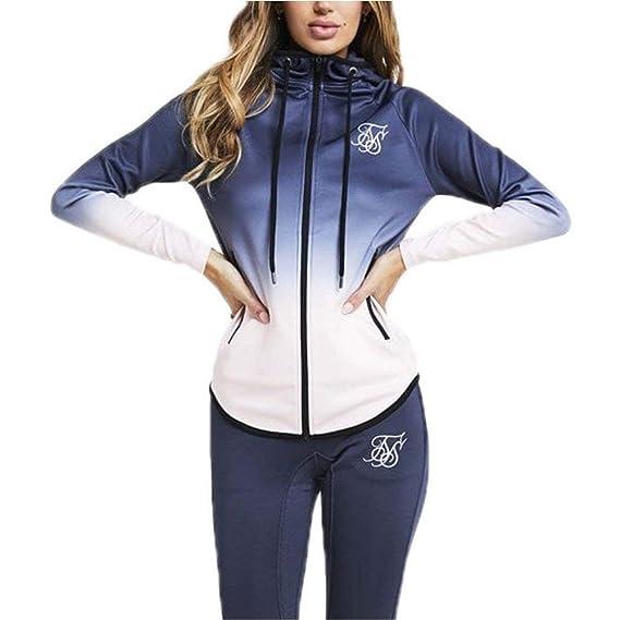 Sik Silk Athlete Zip Through Sudadera Capucha Mujer Gris 6 XXS (XX-Small): Amazon.es: Ropa y accesorios