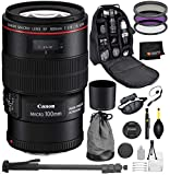Canon EF 100mm f/2.8L Macro is USM Lens with Professional Bundle Package Deal Kit for EOS 7D Mark II, 6D Mark II, 5D Mark IV, 5D S R, 5D S, 5D Mark III, 80D, 70D, 77D, T5, T6, T6s, T7i, SL2