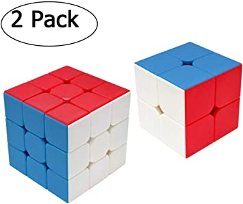 Speed Cube Set 2 Pack, Rubix Cube Set,2x2 3x3, Smooth Sticker Magic Cube Set…: Amazon.es: Juguetes y juegos