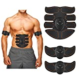 【2018 New BEST】 Muscle Training Toner Abs Stimulator Abdominal Toning Belt, Abdominal Muscles Toner, Smart Fitness EMS Muscle Trainer Muscle Toning Equipment, 2018 Upgraded 8-Sigma Quality Assurance