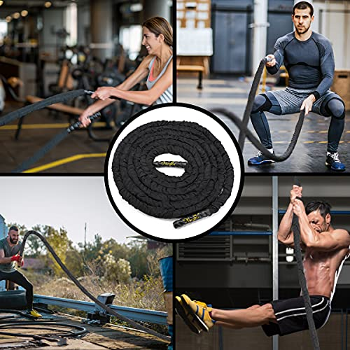 """Heavy Battle Rope 30ft 1.5/"""" for Strength Training Workout Exercise Rope Home Gym"""
