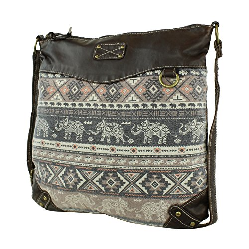 Elephant Tribal Fabric Crossbody Messenger product image