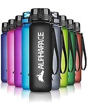 ALPHAPACE Drinkfles 350ml/500ml/650ml/1000ml/1500ml, antilek BPA-vrij waterflesje met een fruitzeef - school, sport, fiets, kinderen - verschillende kleuren