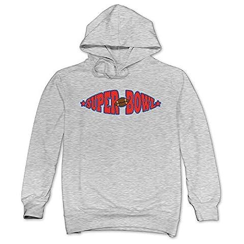 JXMD Men's Super Bowl Hoodies Ash Size M (Neon Otterbox Iphone 4s Case)