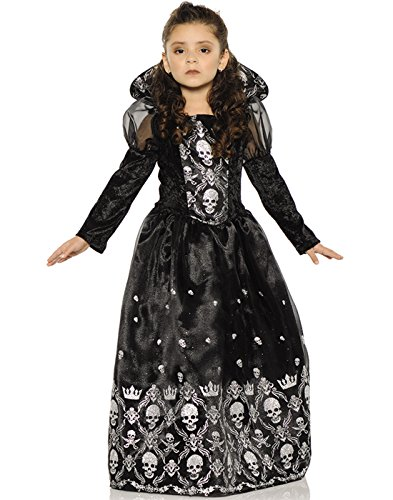 Evil Princess Halloween Costumes (Underwraps Big Girl's Underwraps Girl's Dark Princess Costume - Small Childrens Costume, black/white, Small)