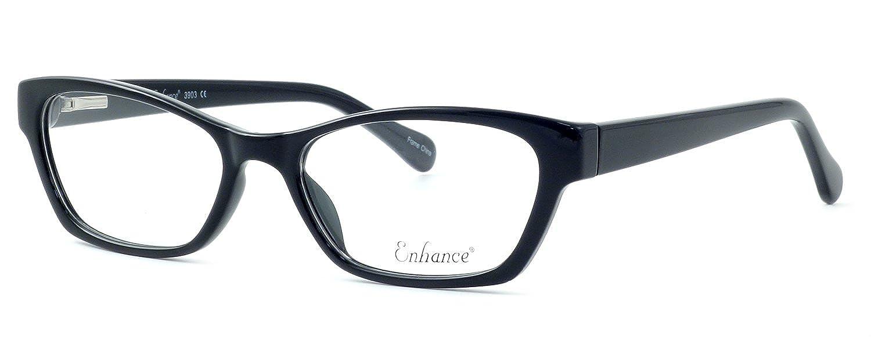 322e14a643 Amazon.com  Enhance Optical Designer Eyewear    3903 Eyeglasses in Black    DEMO LENS  Clothing