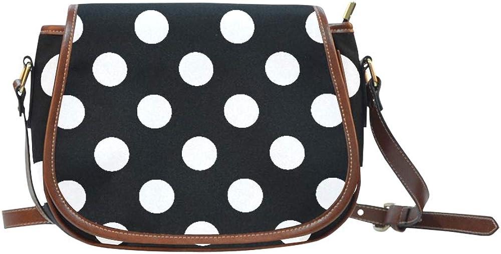 Seamless Big Polka Dot Simple Shoulder Bag Flap With Magnetic Snap Printed Woman Crossbody Bag Office Shoulder Bag