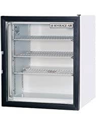 Beverage-Air CF3-1-W One Section Countertop Display Reach-In Freezer with Swing Door 3 cu.ft. Capacity White Exterior and Rear Mounted