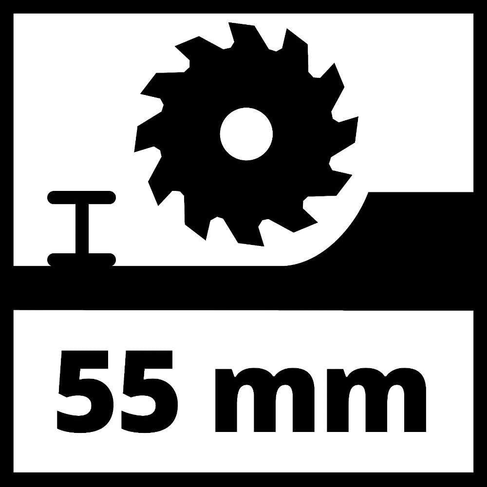 Einhell Sierra circular manual TC-CS 1250 1250 W, /Ø165 x /Ø16 mm hoja de sierra de metal duro, ajuste sencillo y sin herramientas, cu/ña de separaci/ón, conexi/ón de aspiraci/ón de polvo