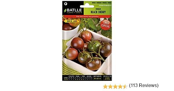 Semillas Hortícolas - Tomate Black Cherry - Batlle: Amazon.es: Jardín