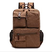 Nanxson New Fashion Great Canvas Unisex Retro Vintage Backpack Rucksack for University Outdoor Camping Picnic Sports Laptop Backpack Multi-function Bag AL5041 (coffee)