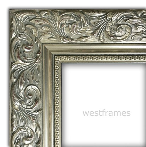 West Frames Bella Ornate Embossed Wood Picture Frame (20'' x 30'', Antique Silver) by West Frames