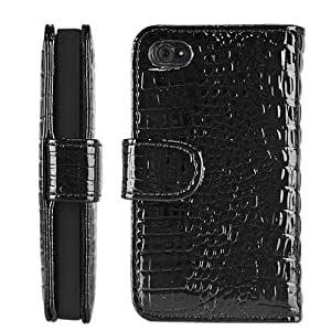 Thinkcase Strap Leopard Skin Wallet Flip Carry Leather Pouch Stand Case Cover For iPhone 4 4g 4s ksn07