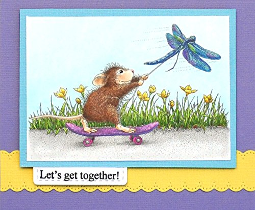 Dragonfly Skateboard Stampendous HMCP91 House Mouse Cling Stamp