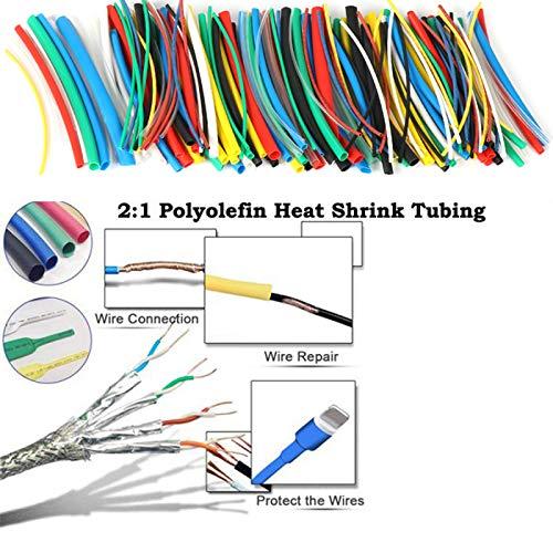 1 Colore ritardante di Fiamma Tubo termoretraibile Sleeving Wrap Elettrico Cavo Kit thetruthuntold 70 Pezzi 2