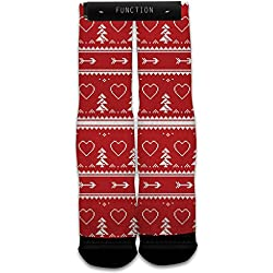 Function - Valentine's Day 8 Bit Printed Socks
