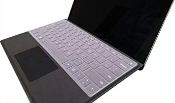 Silicone Keyboard Cover for Microsoft 2018 Surface 2 15 13.5 Soft Laptop Skin Protector Film for Microsoft Surface Book 1 13.5-Wrist Touchpad Film
