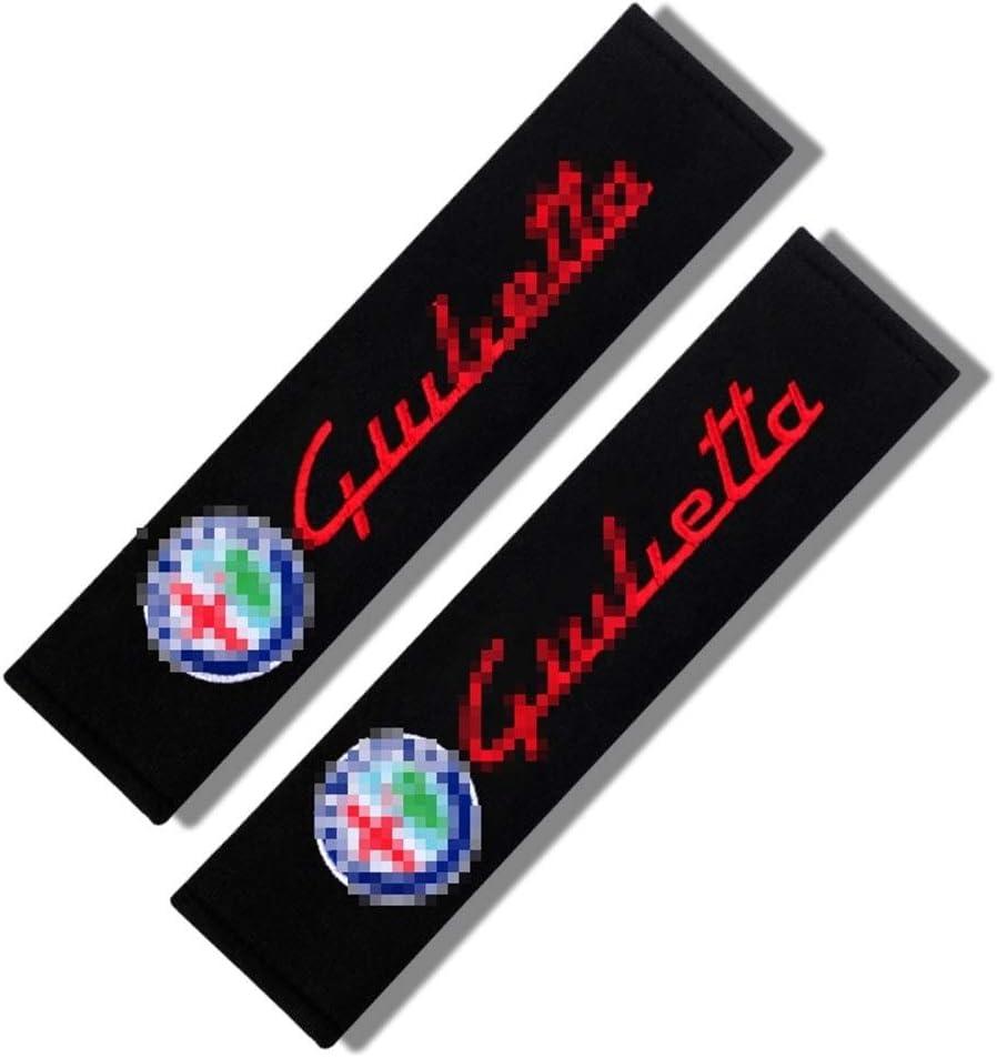 Colore : 2 Imbottiture per Cintura di Sicurezza 2pcs Car Styling Auto Copertura di Sede La Cinghia per Le Alfa Romeo 159 147 156 147 159 Giulietta Mito Sicurezza Spalline Protezione Imbottitura