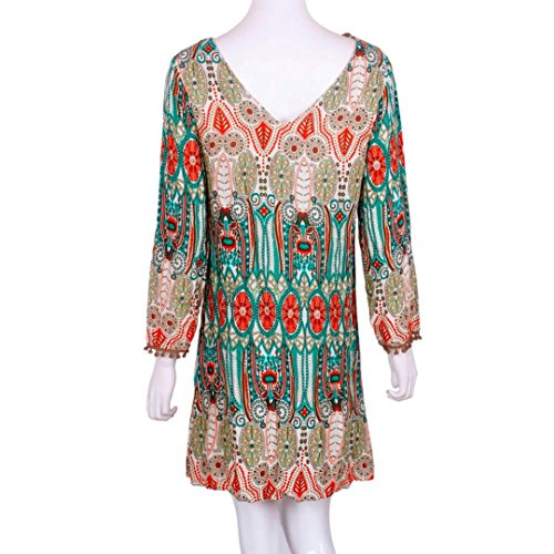 lache robes nationale Ineternet cou Vert rtro autour manches de longues Automne vtements Femmes wExqCSq0nt