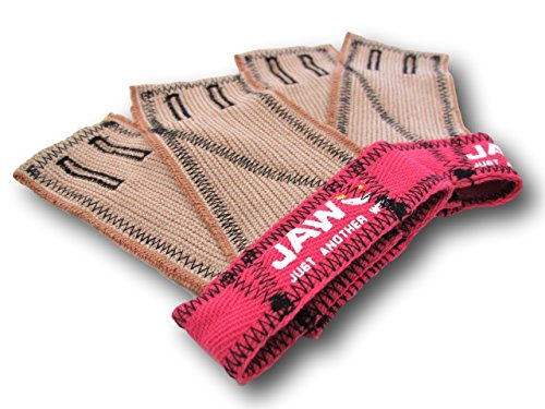 JAW Gloves - Double The Protection & Coverage (Pink/Black, Medium)