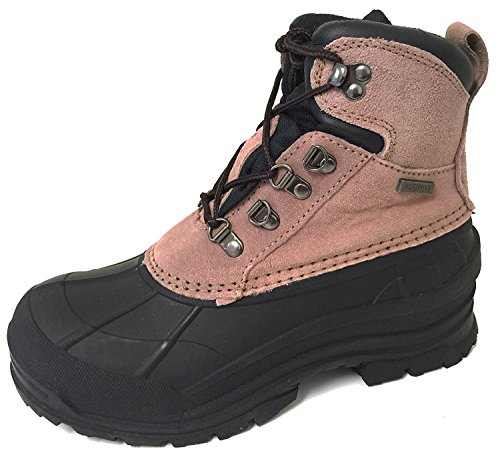 Tan Boots Snowshoes - G4U-EK W-VSB Women's Winter Boots Genuine Leather Cold Weather Hiking Ankle Thermolite Insulated Waterproof Snow Ski Snow Shoes (8 B(M) US, Tan)