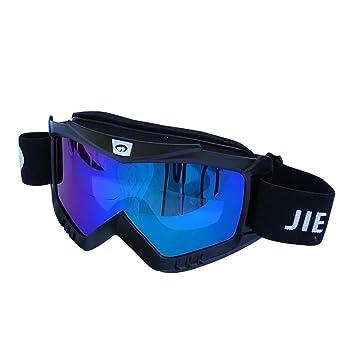 Männer und Frauen Outdoor Sports Winddicht Brille Anti-UV Anti-blindheit Ski Sonnenbrillen Motorrad Fahrt Anti-staub Gläser , Red , Colorful Lenses