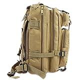 DWEFVS Military Backpack Oxford Unisex Outdoor Sports Hunting Camping Climbing Hiking Bag KHAKI 30-40L