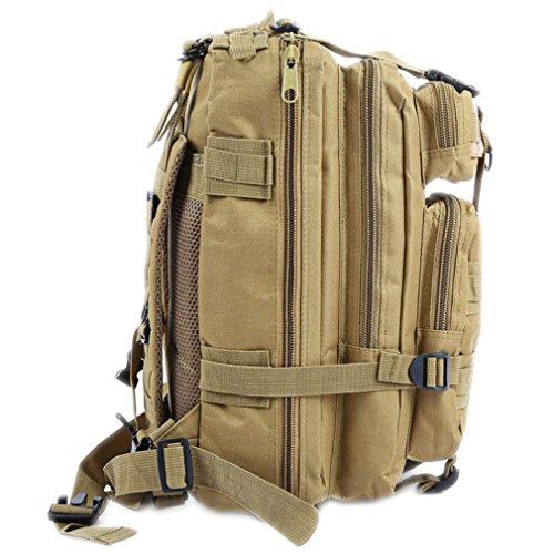 DWEFVS Military Backpack Oxford Unisex Outdoor Sports Hunting Camping Climbing Hiking Bag KHAKI 30-40L by DWEFVS