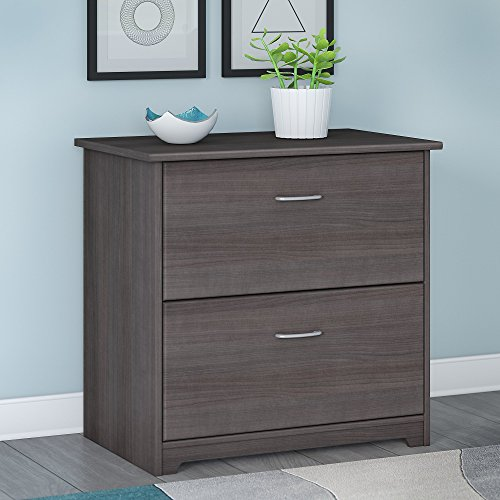 Bush Furniture Cabot 2 Drawer Lateral File Cabinet, Heather Gray