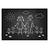 Ohuhu Wall Sticker Chalkboard Contact Paper Blackboard Sticker