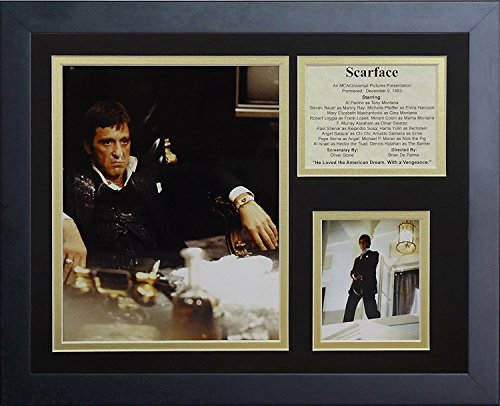 Legends Never Die Scarface Desk Framed Photo Collage, 11x14-Inch (Scarface Decor)