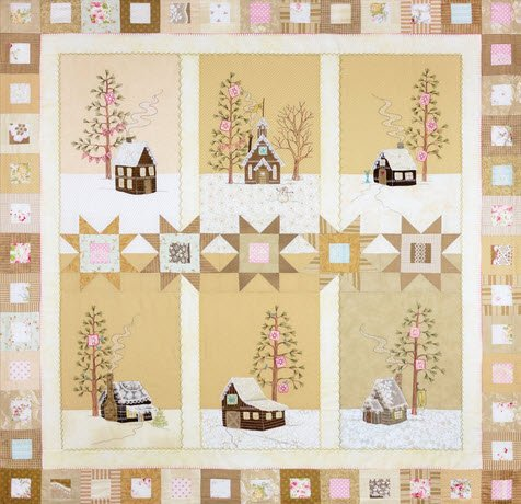 Crabapple Hill Lace Cabins Wintery Quilters