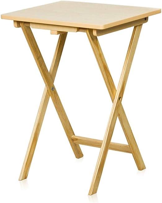 El Mesa plegable de madera maciza amarilla de alta resistencia ...