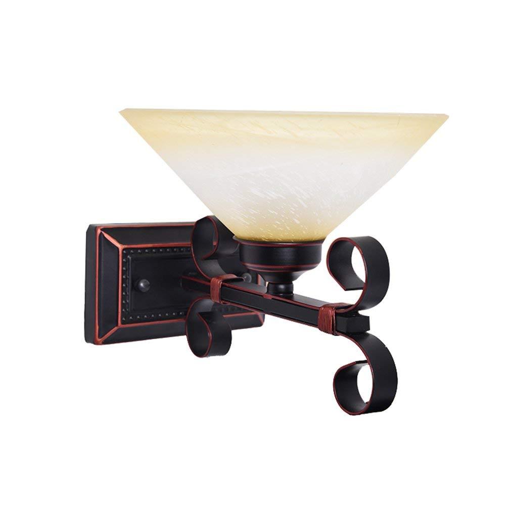 Xiao Yun    American Country Nachttischlampe Einzelner Doppelschlafzimmer-Gangbalkon E27 (Farbe  Einzelkopf)