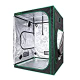 "Casolly 48""x48""x80"" Mylar Hydroponic Indoor Grow Tent Mylar 600D for Planting Room , 4'x4′"