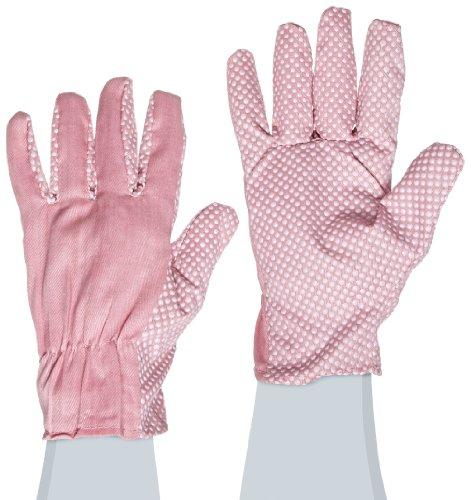West Chester 56110 Polyester Cotton Canvas Back Jersey Palm Gloves with PVC Dots, Women
