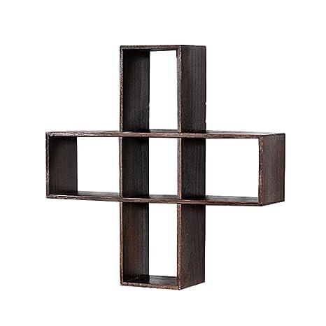 Portavasos de madera maciza / bastidores / chino colgante de pared del estante del té marco