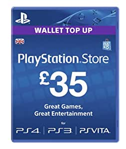 35 Playstation Network Card Psn Uk Ps3 & Ps Vita & Ps4 -