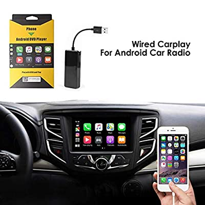 Wired Carplay USB Dongle,Android Auto, Mirroring,Smartphone Link Receiver for The Vehicle with Android System carplay Upgrade/USB Connect/SIRI Voice Control/Google Maps: GPS & Navigation