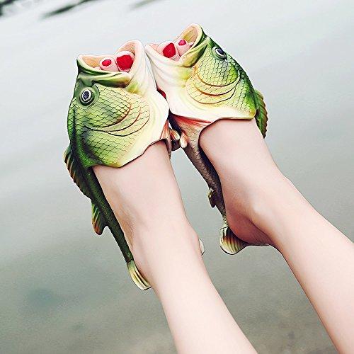 Pantofole per per EU35 Scarpe Piscina Doccia bagno Spiaggia animali CN34 pesci Unisex Ciabattine dimensioni per Pantofole Divertente Spiaggia Infradito Scarpe il UK3 FEIFEI Sandali 148vwp