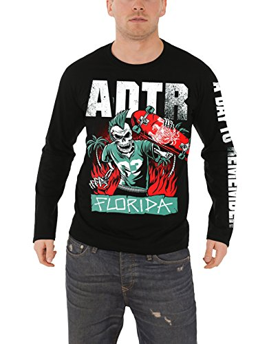 A Day To Remember T Shirt Florida Band Logo Official Mens Black Long Sleeve Official Band T-shirts