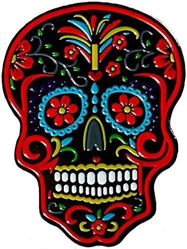 Be The Ball 4U Flowers Lace Dia De Los Muertos Cool Skull Mask Designs Dawn of the Dead Golf Ball Marker and Matching Red Rose Hat Clip